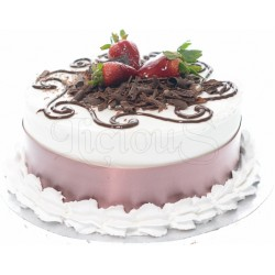 Chocolate & Strawberry Layered Cheesecake